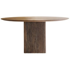 Customizable Round Dining Table Ten, More Sizes, More Wood Finishes