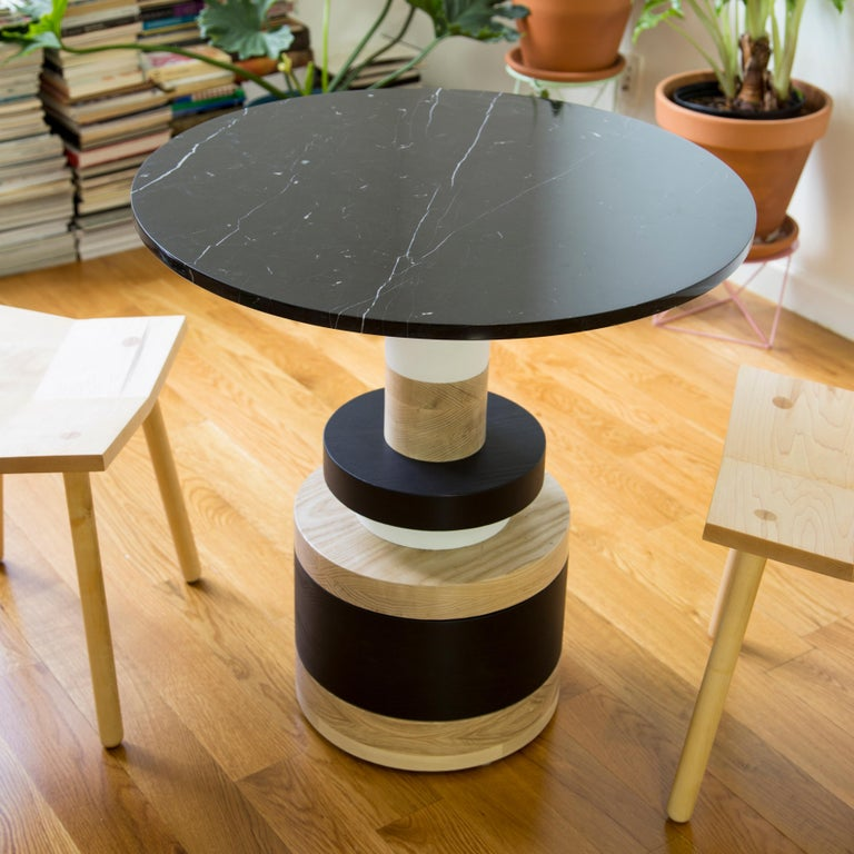Modern Customizable Sass Cafe Table from Souda, Small, Black Marble Top, Made to Order For Sale