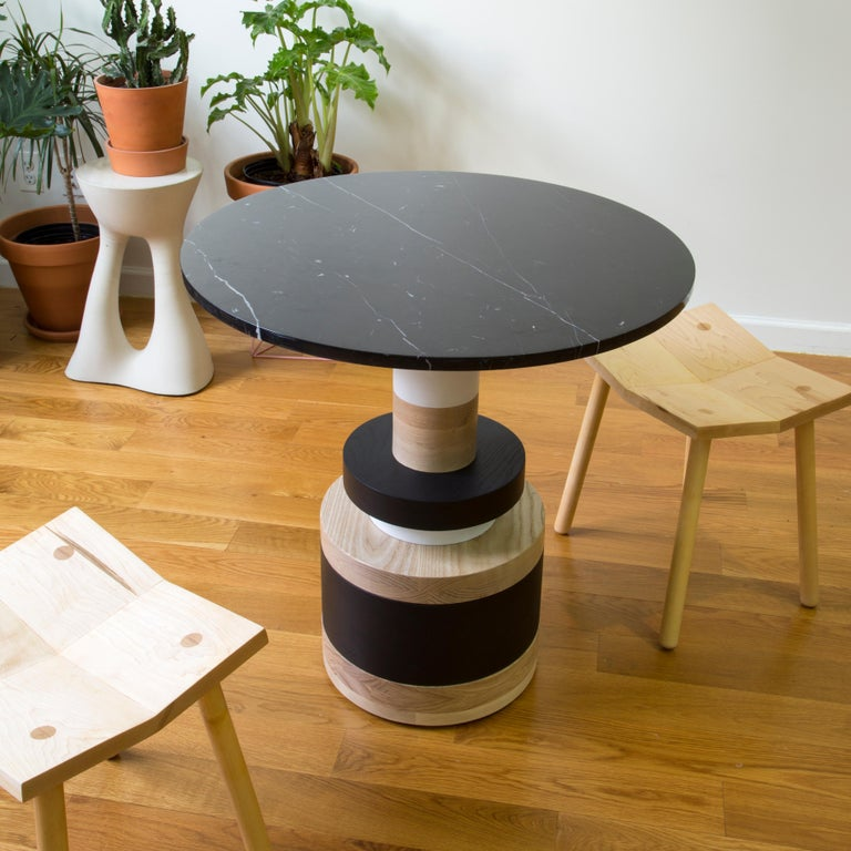 Customizable Sass Cafe Table from Souda, Small, Black Marble Top, Made to Order In New Condition For Sale In Brooklyn, NY