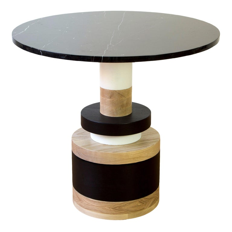 Customizable Sass Cafe Table from Souda, Small, Black Marble Top, Made to Order For Sale