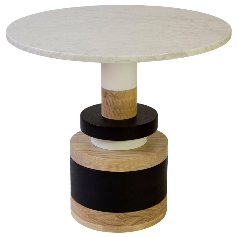 Customizable Sass Cafe Table from Souda, Small, White Marble Top For Sale