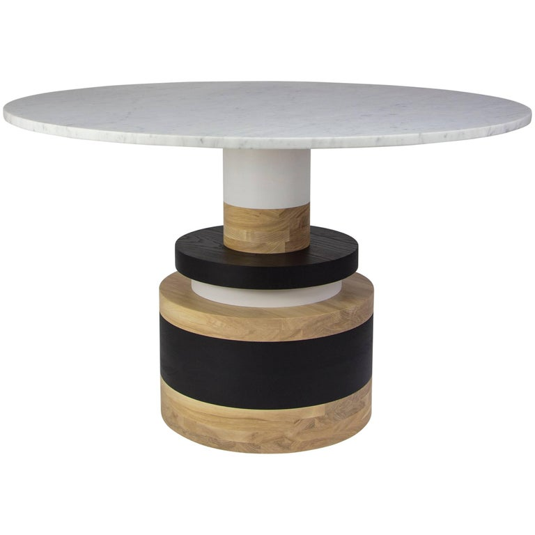 Customizable Sass Dining Table from Souda, Medium, Marble Top For Sale