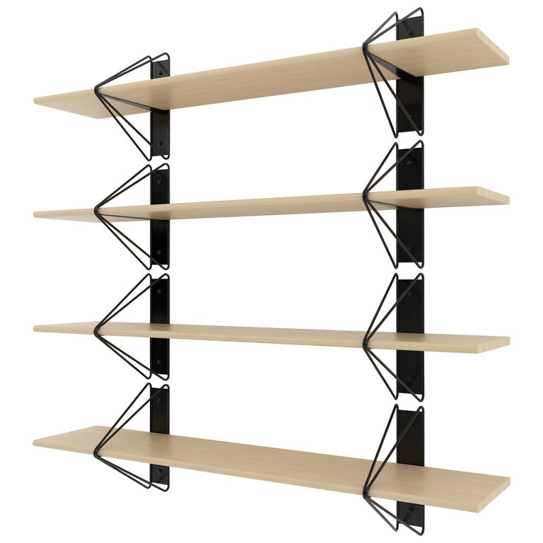 American Customizable Set of 2 Strut Shelves from Souda, Black, Made to Order For Sale