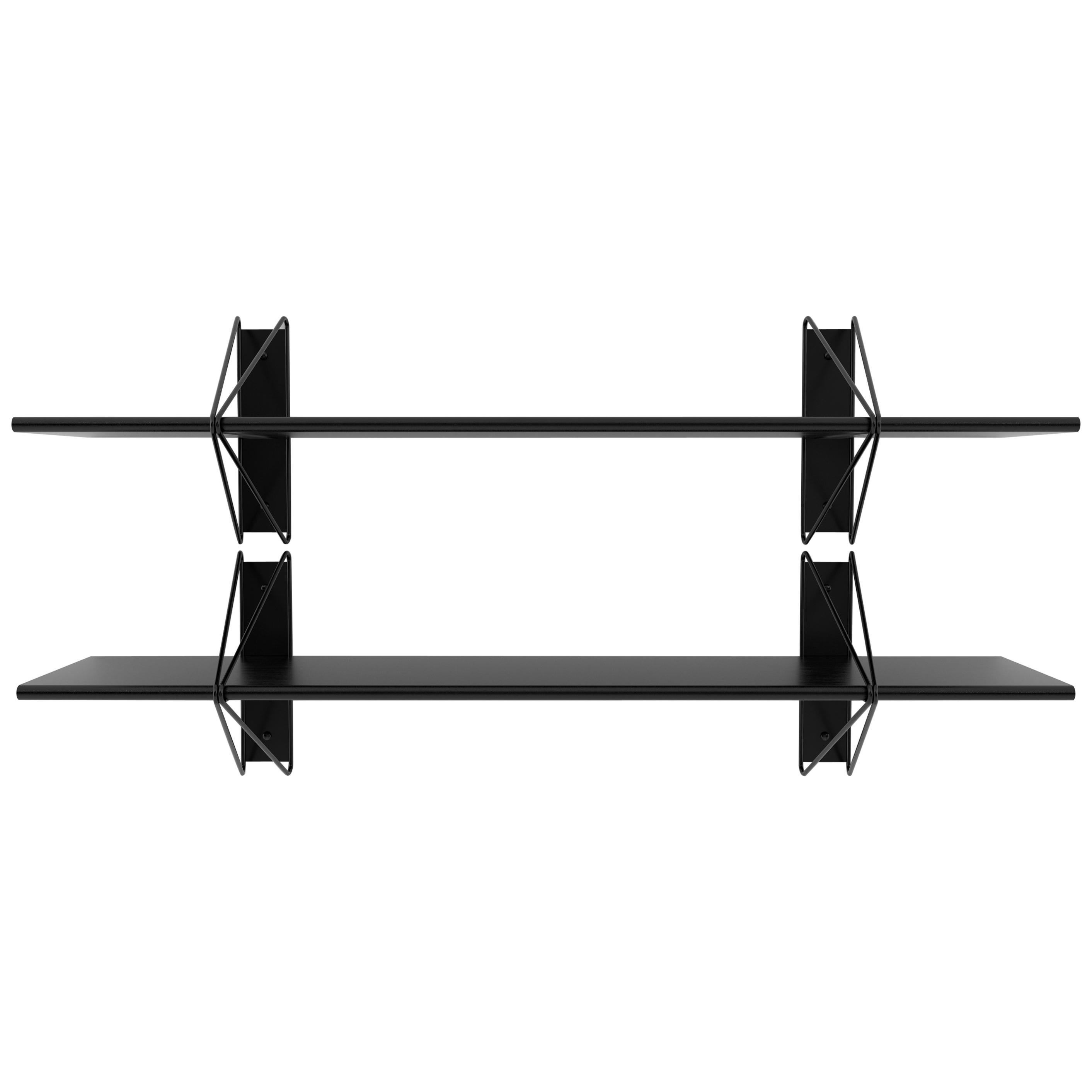 Customizable Set of 2 Strut Shelves from Souda, Black, Made to Order