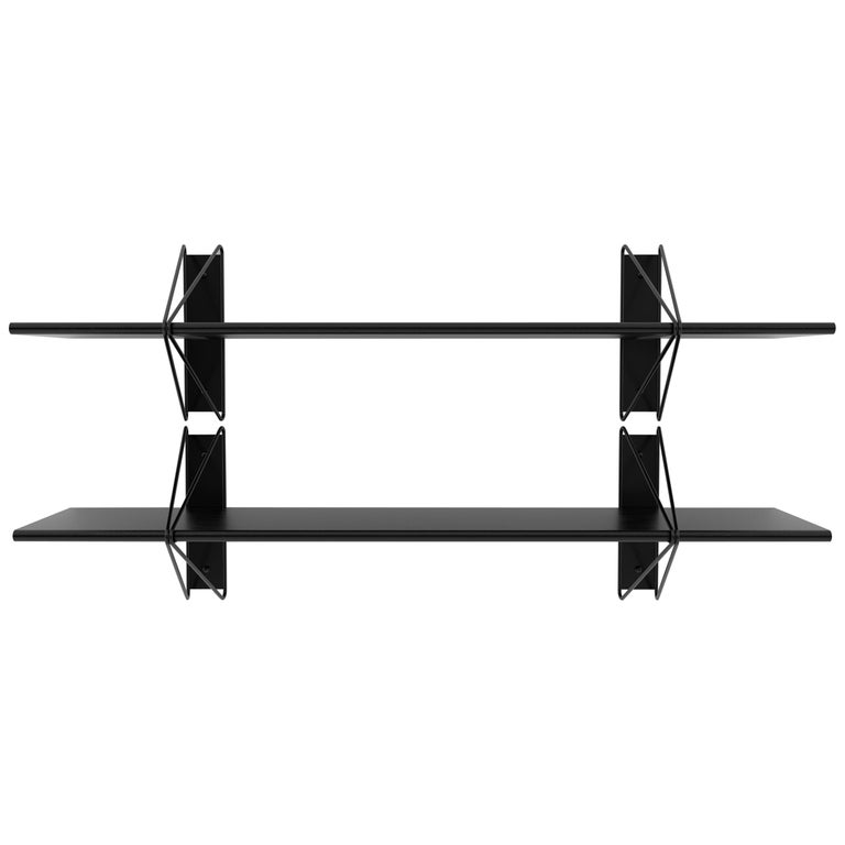 Customizable Set of 2 Strut Shelves from Souda, Black, Made to Order For Sale
