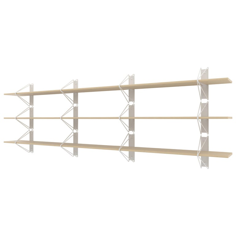 Customizable Set of 3 Strut Shelves from Souda, Maple, Extra Long, Made to Order For Sale