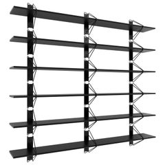 Customizable Set of 6 Strut Shelves from Souda, Black, Modern, Made to Order