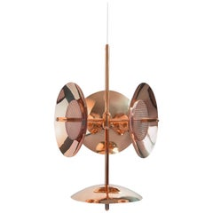 Customizable Signal Chandelier 3 and 1 in Copper, from Souda, Made to Order