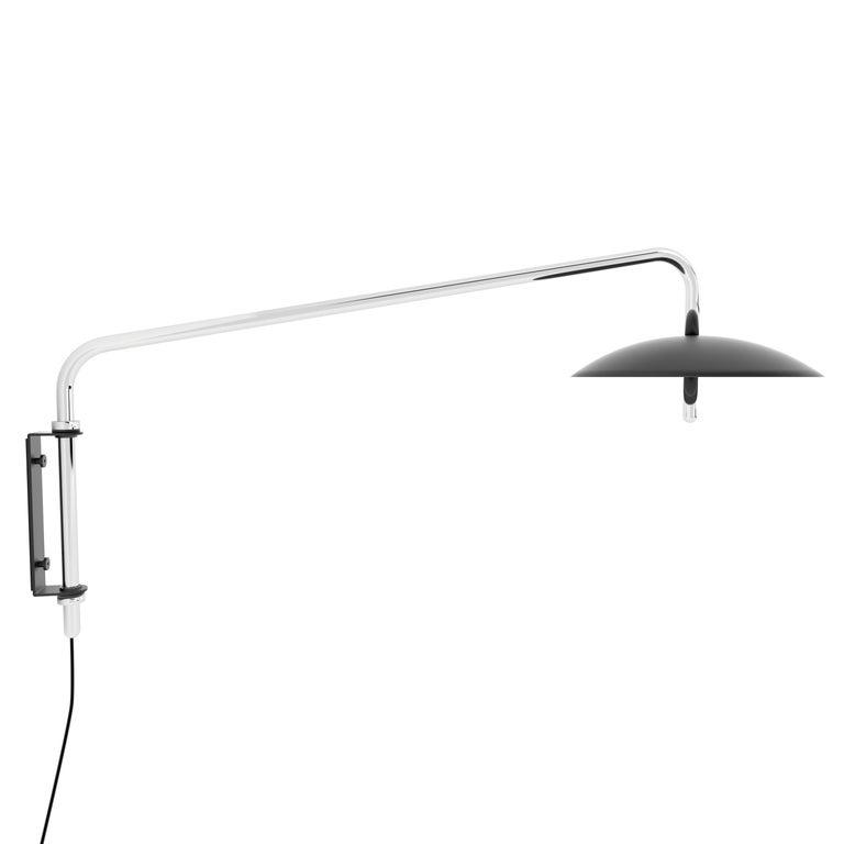 Customizable Signal Swing Arm Sconce, Black x Nickel, from Souda 1