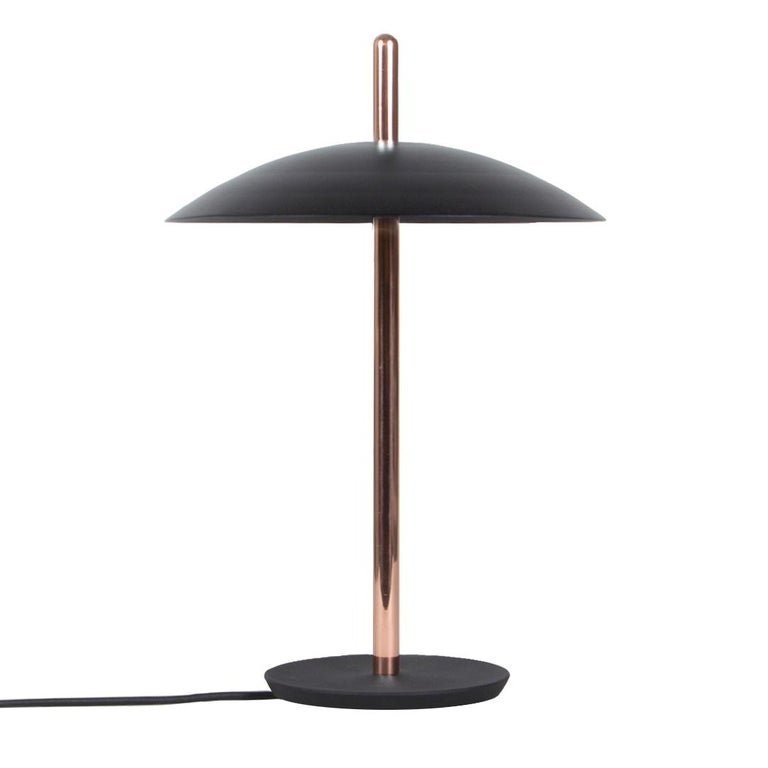 Customizable Signal Table Lamp from Souda, Black and Copper, Made to Order For Sale