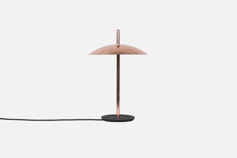 Cast Customizable Signal Table Lamp from Souda, Black & Nickel, Made to Order For Sale