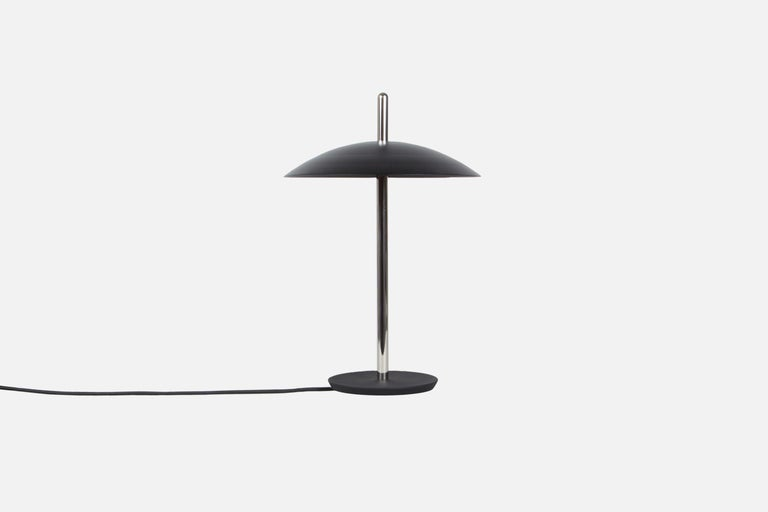 American Customizable Signal Table Light from Souda, White x Brass, Made to Order For Sale