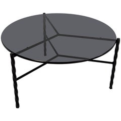 Customizable Von Iron Coffee Table from Souda, Black and Glass, Floor Model