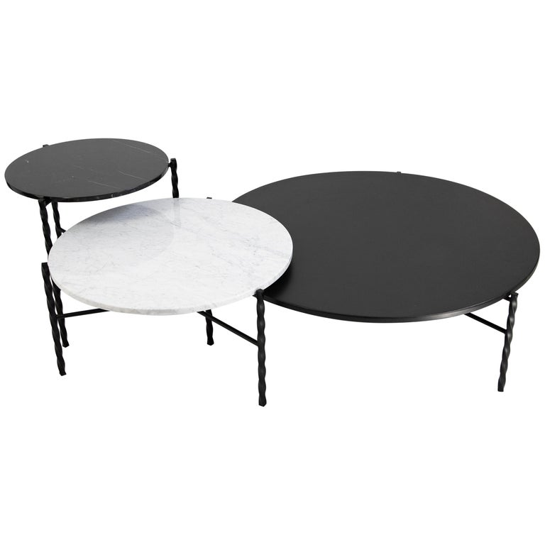 Customizable Von Iron Nesting Coffee Table from Souda For Sale