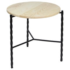 Customizable Von Iron Side Table from Souda, Black & Natural Ash, Made to Order