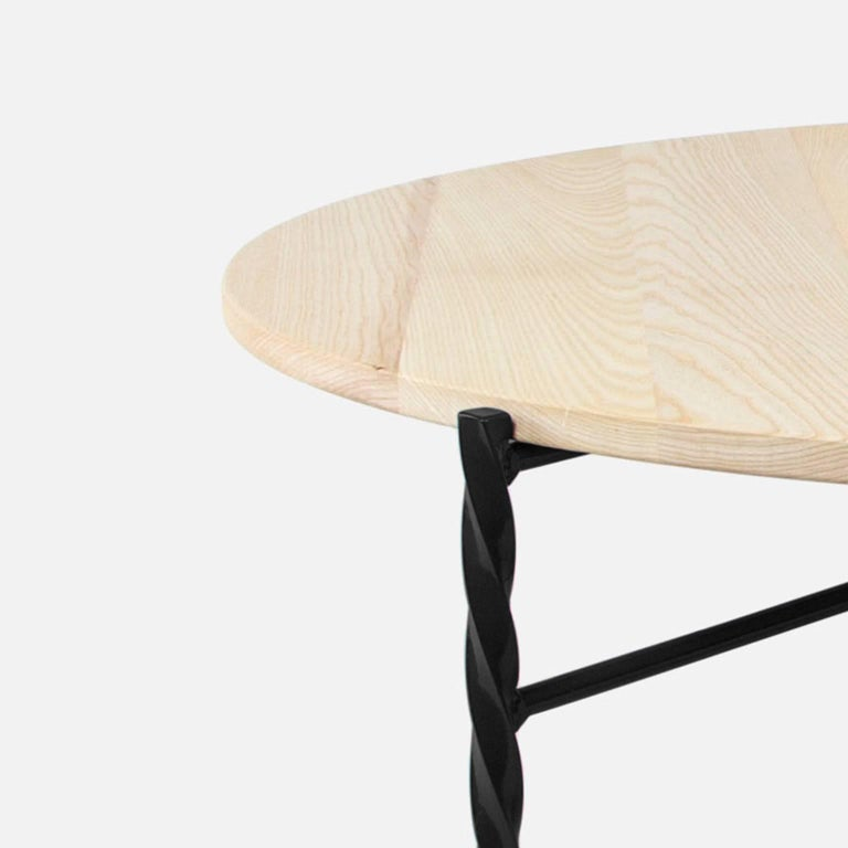 Painted Customizable Von Iron Side Table from Souda, Nero Marquina, Floor Model For Sale