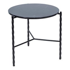Customizable Von Iron Side Table from Souda, Nero Marquina, Floor Model