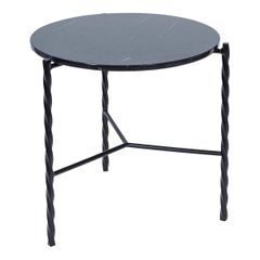 Customizable Von Iron Side Table from Souda, Nero Marquina, In Stock