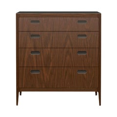 Customizable Walnut Dresser with Blackened Brass Top from Munson Furniture