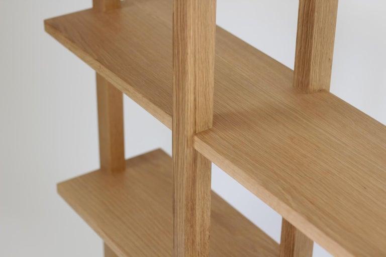 Customizable White Oak Minimal Bookshelf by SinCa Design In New Condition For Sale In Tolland, CT
