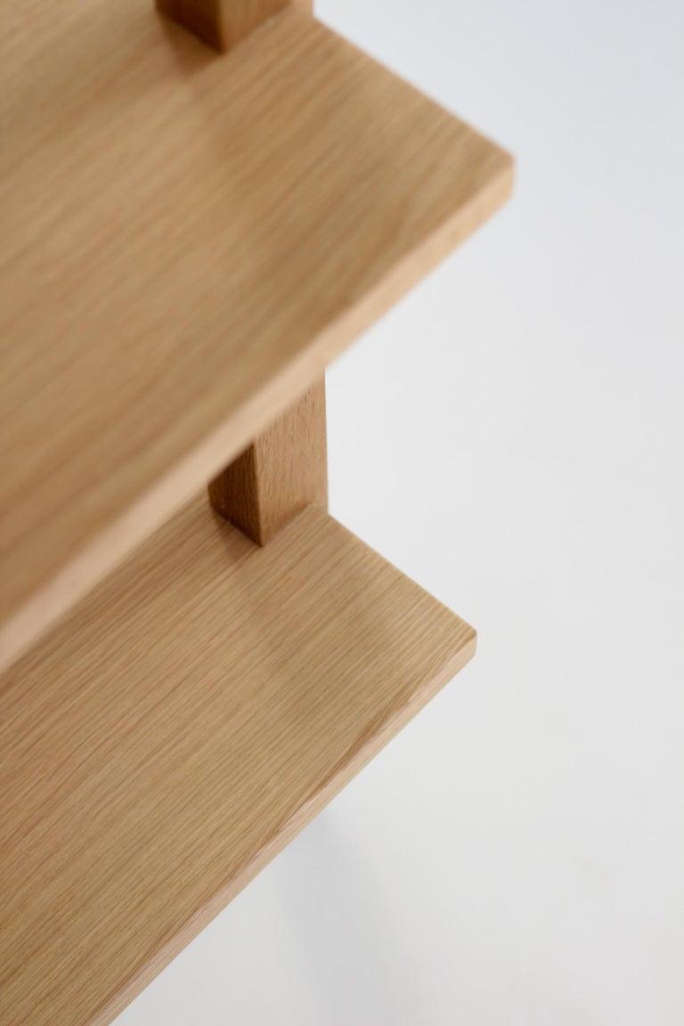Customizable White Oak Minimal Bookshelf by SinCa Design For Sale 1