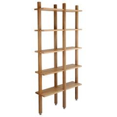 Customizable White Oak Minimal Bookshelf by SinCa Design