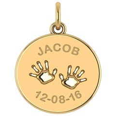 Customize Disc Nameplate in Yellow Rose or White Gold