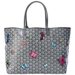 "Customized ""Butterfly"" Goyard Monogram St Louis PM Bag"
