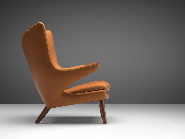 Scandinavian Modern Customized Hans Wegner Papa Bear Chair For Sale