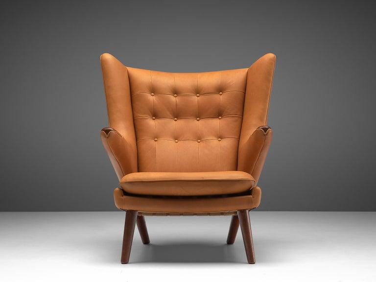Ebonized Customized Hans Wegner Papa Bear Chair For Sale
