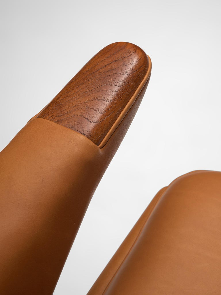 Leather Customized Hans Wegner Papa Bear Chair For Sale