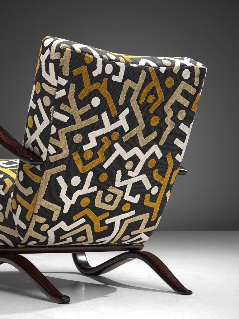 Beech Customized Jindrich Halabala Lounge Chairs, Czech Republic 1930s
