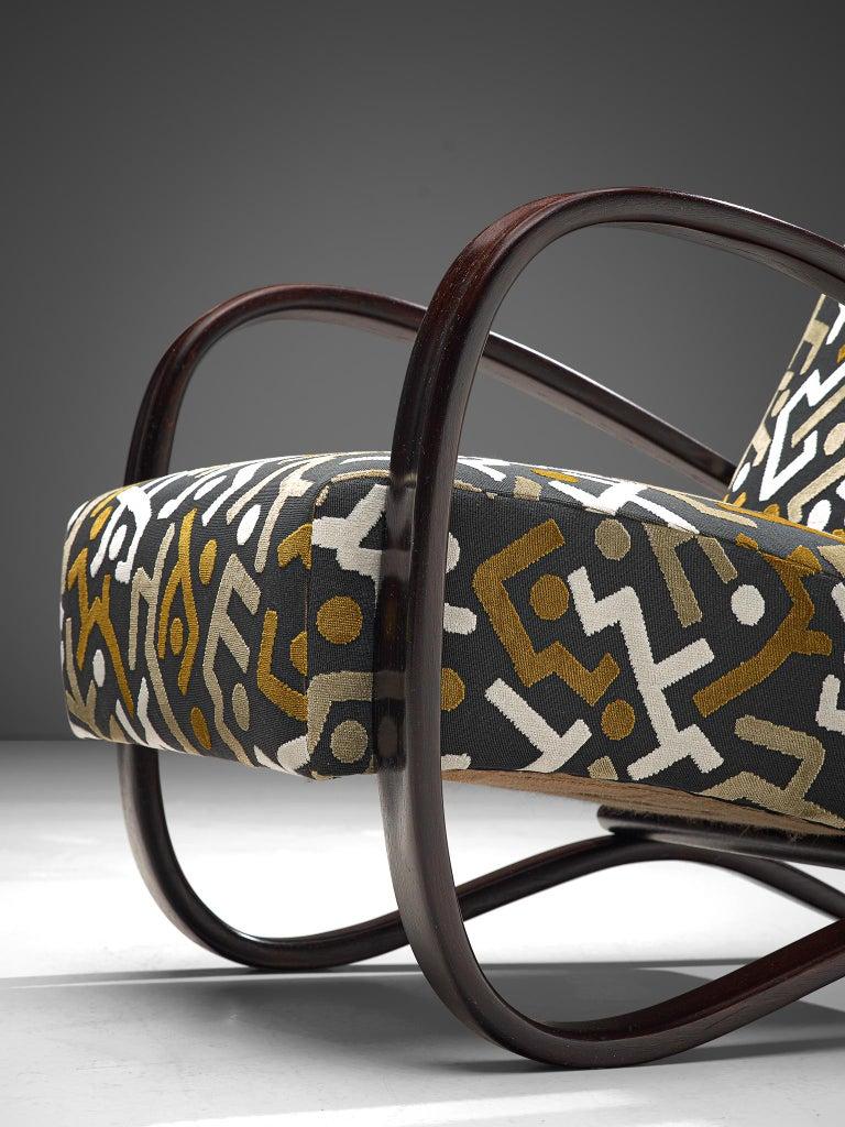 Customized Jindrich Halabala Lounge Chairs, Czech Republic 1930s 3
