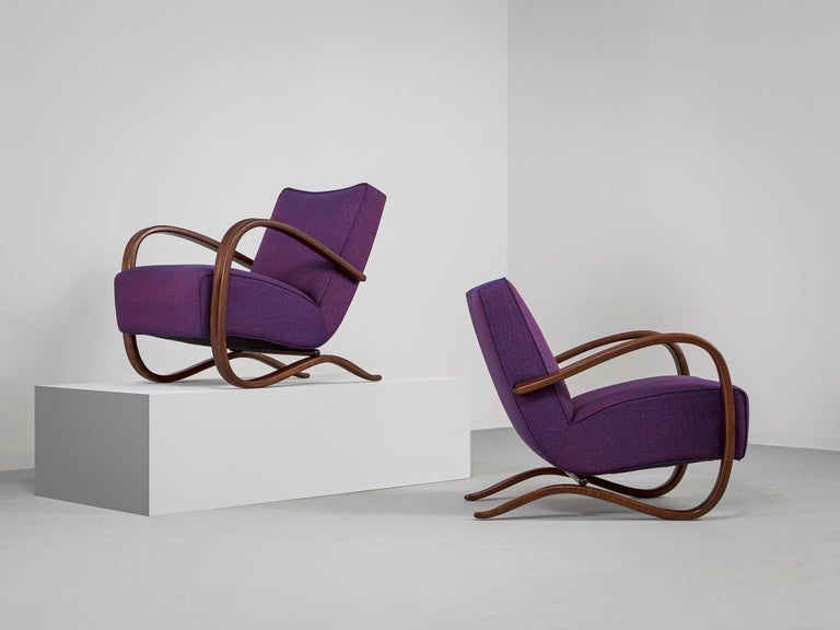 Mid-Century Modern Customized Jindrich Halabala Lounge Chairs