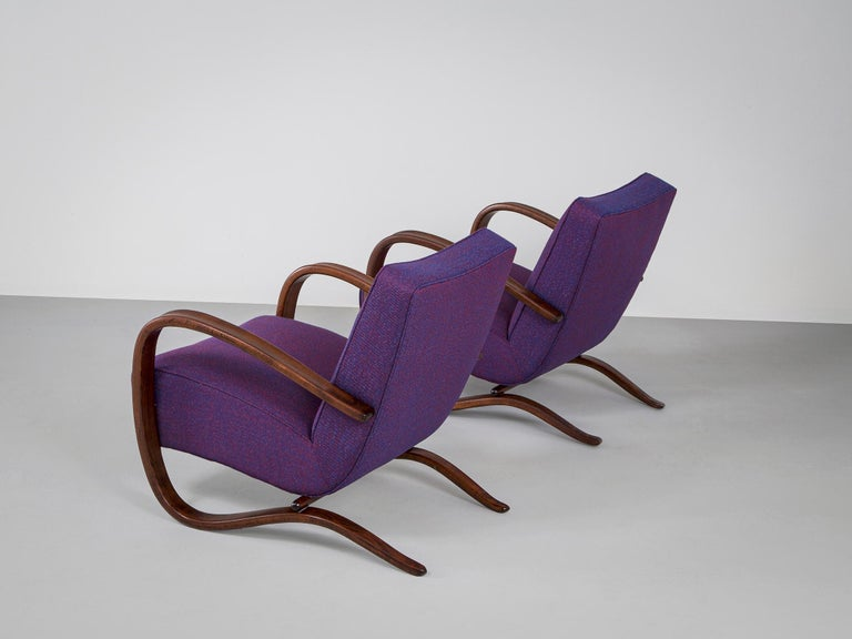 Czech Customized Jindrich Halabala Lounge Chairs