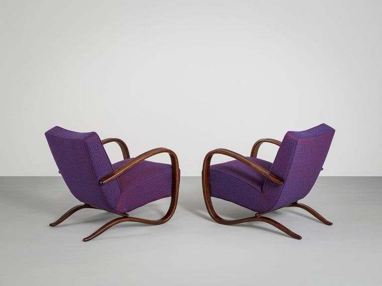 Mid-20th Century Customized Jindrich Halabala Lounge Chairs