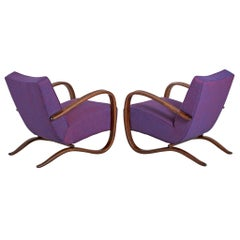 Customized Jindrich Halabala Lounge Chairs