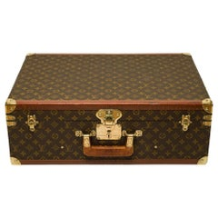 Customized Louis Vuitton Bisten 60 Dog Kennel for small dog in brown canvas