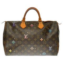 Customized Louis Vuitton Speedy 35 handbag in Monogram canvas