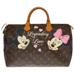 "Customized Louis Vuitton Speedy 35 ""Legendary Love"" handbag in Monogram canvas"