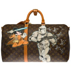 "Customized ""Mickey Vs Stormstrooper"" Louis Vuitton Keepall 50 travel bag"