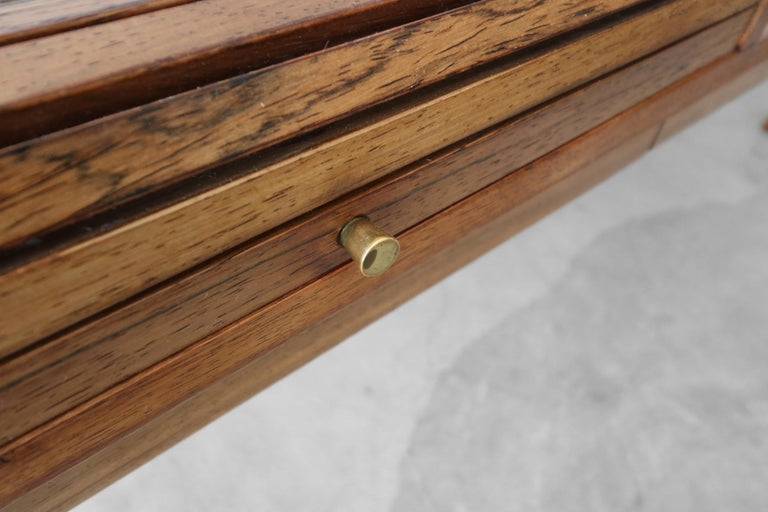 Customized Midcentury Rosewood and Walnut Desk by Edward Wormley for Dunbar 4