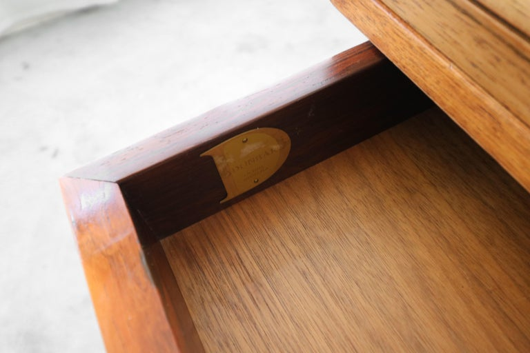 Customized Midcentury Rosewood and Walnut Desk by Edward Wormley for Dunbar 5