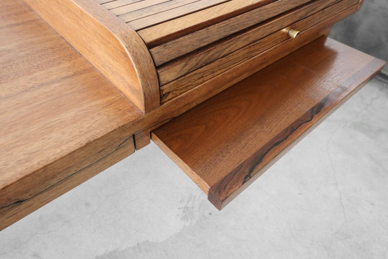 Customized Midcentury Rosewood and Walnut Desk by Edward Wormley for Dunbar 3