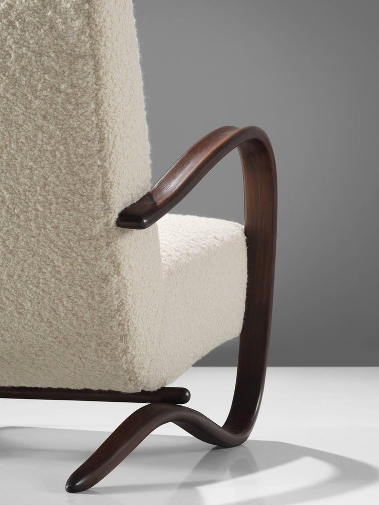 Fabric Customized Pierre Frey Halabala Lounge Chairs For Sale