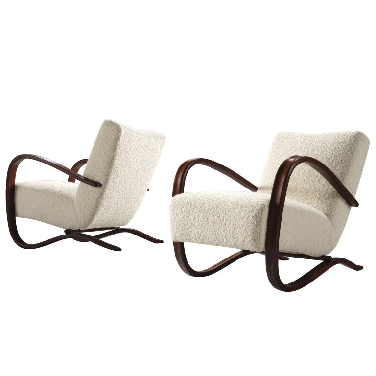 Customized Pierre Frey Halabala Lounge Chairs For Sale
