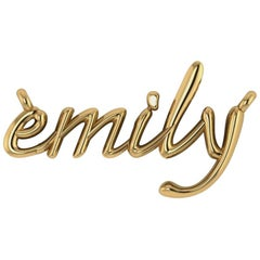 Customized White Yellow Rose Gold Diamond Nameplate