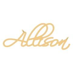 Customized White Yellow Rose Gold Diamond Nameplate
