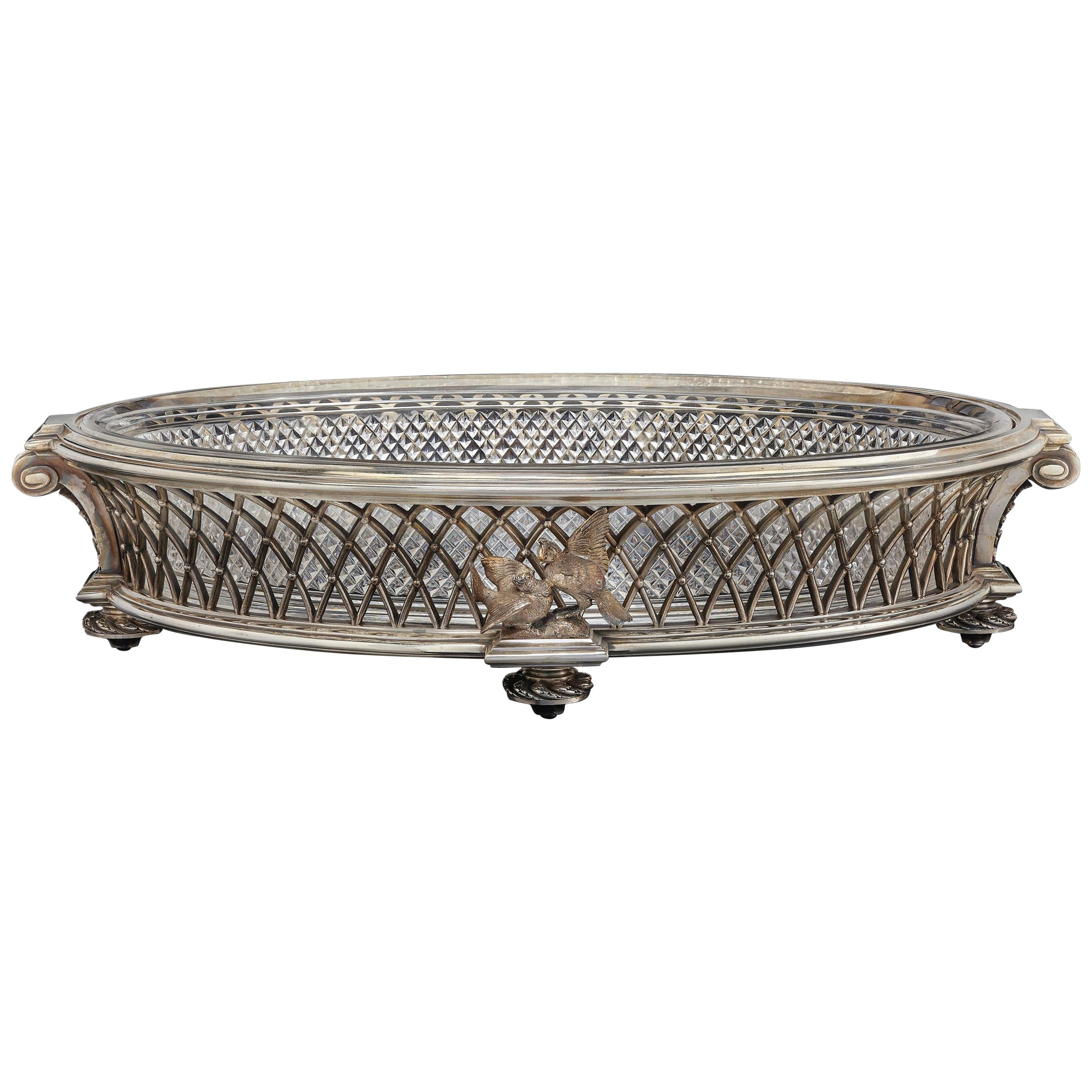 Cut-Crystal and Silver Plated Centrepiece by Baccarat, circa 1890