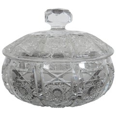 Cut Crystal Bowl with Lid